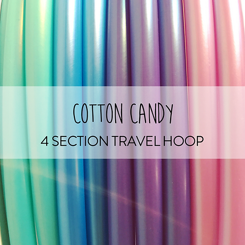 Cotton Candy 4 Section Travel Hula Hoop