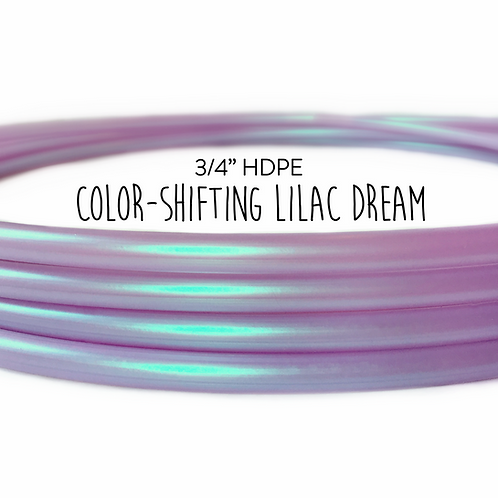 "3/4"" Color-shifting Lilac Dream HDPE Hula Hoop"