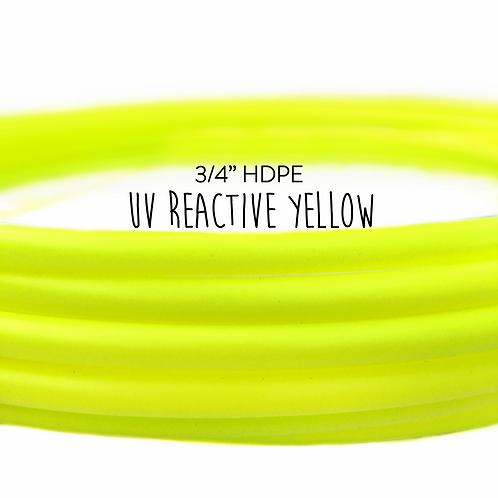 "3/4"" UV Reactive Yellow HDPE Hula Hoop"