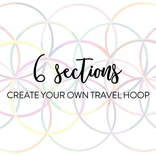Custom 6 Section Travel Hula Hoop