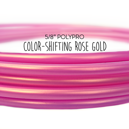 "5/8"" Color-shifting Rose Gold Polypro Hula Hoop"