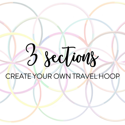 Custom 3 Section Travel Hula Hoop
