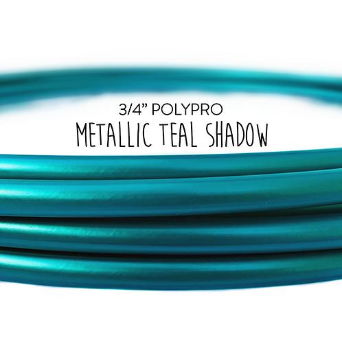 """3/4"""" Metallic Teal Shadow Polypro Hula Hoop"""