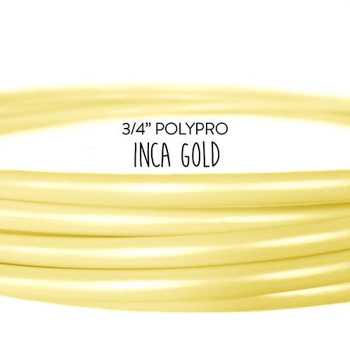 """3/4"""" Inca Gold Polypro Hula Hoop"""