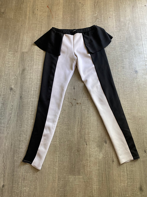 Black & White Circus Leggings (S/M)