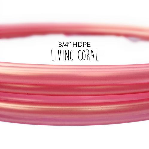 "3/4"" Living Coral HDPE Hula Hoop"