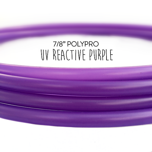 "7/8"" UV Reactive Purple Polypro Hula Hoop"