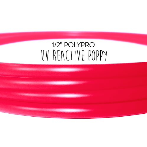 "1/2"" UV Reactive Poppy Polypro Hula Hoop"