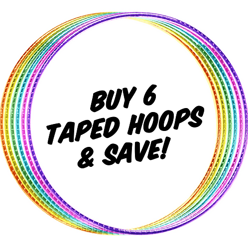 Buy 6 Taped Hoops & Save!