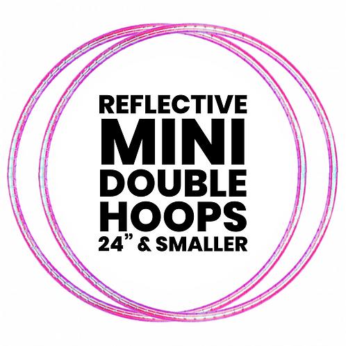 Custom Reflective Taped Mini Double Hoops