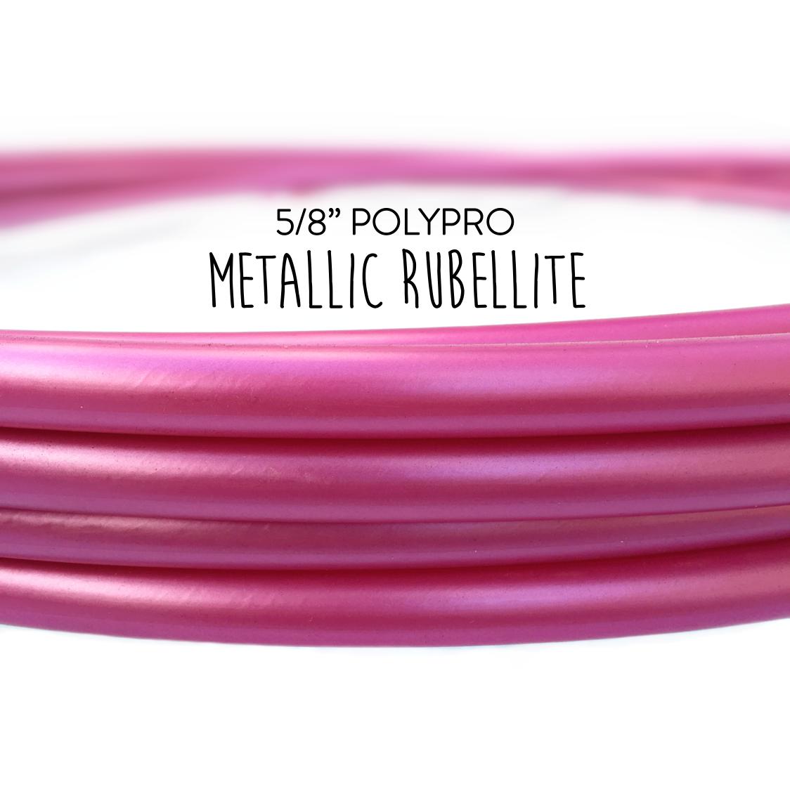 AdvancedPerformance Polypro Hula Hoop Metallic Rubellite Pink