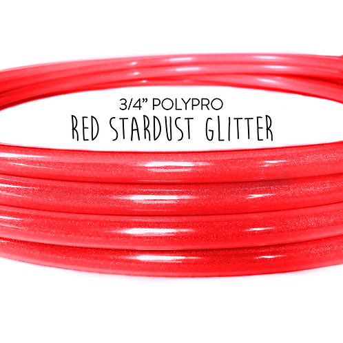 "3/4"" Red Stardust Glitter Polypro Hula Hoop"