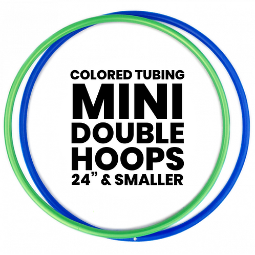 Custom Mini Double Hoops with Colored Tubing