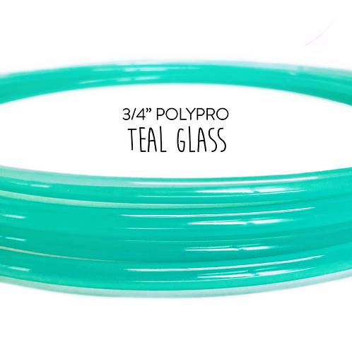"3/4"" Teal Glass Polypro Hula Hoop"