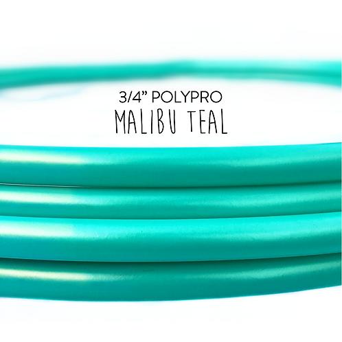 """3/4"""" Malibu Teal Polypro Hula Hoop"""