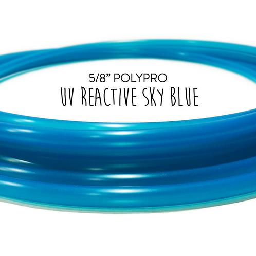 "5/8"" UV Reactive Sky Blue Polypro Hula Hoop"