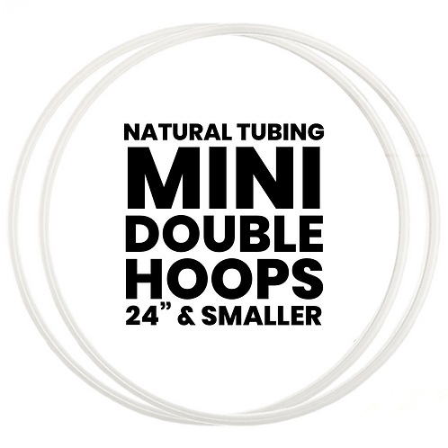 Custom Mini Double Hoops with Natural Tubing