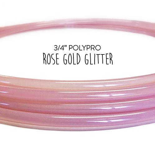 "3/4"" Rose Gold Glitter Polypro Hula Hoop"