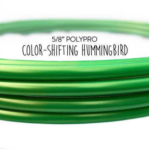 """5/8"""" Color-shifting Hummingbird Polypro Hula Hoop"""