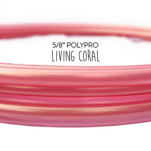 "5/8"" Living Coral Polypro Hula Hoop"