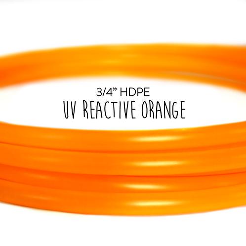 "3/4"" UV Reactive Orange HDPE Hula Hoop"