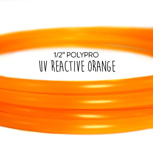 "1/2"" UV Reactive Orange Polypro Hula Hoop"