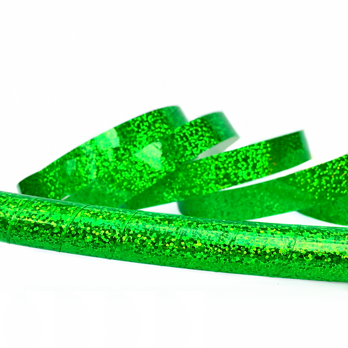 Fluorescent Green Sequin Taped Hula Hoop