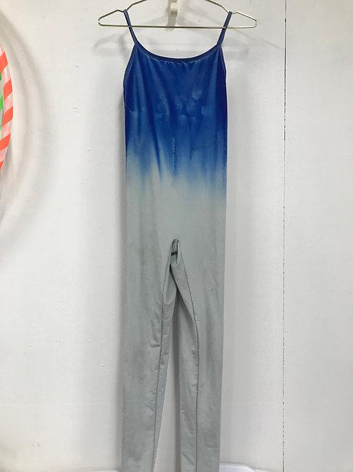 Blue ombre spaghetti strap bodysuit (S)