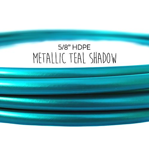 """5/8"""" Metallic Teal Shadow HDPE Hula Hoop"""