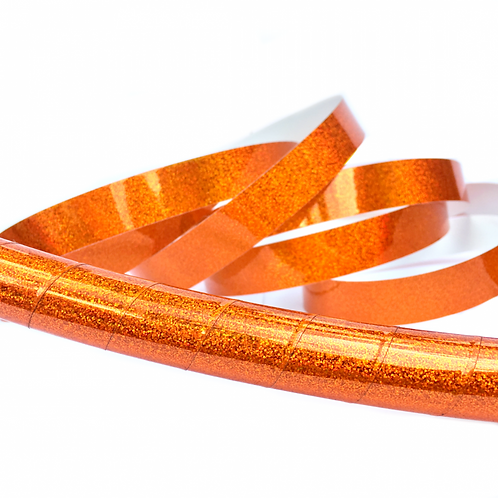 Orange Glitter Taped Hula Hoop
