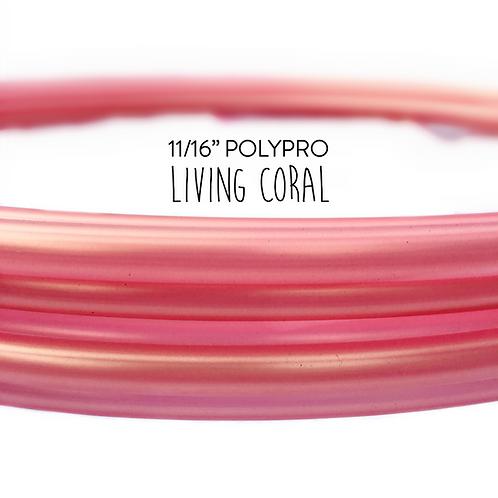 "11/16"" Living Coral Polypro Hula Hoop"