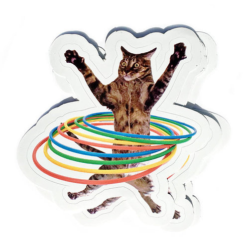 Silly Kitty Hooper Vinyl Decal Sticker