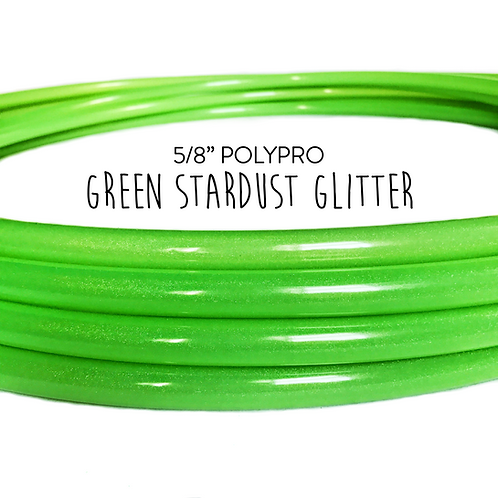 "5/8"" Green Stardust Glitter Polypro Hula Hoop"