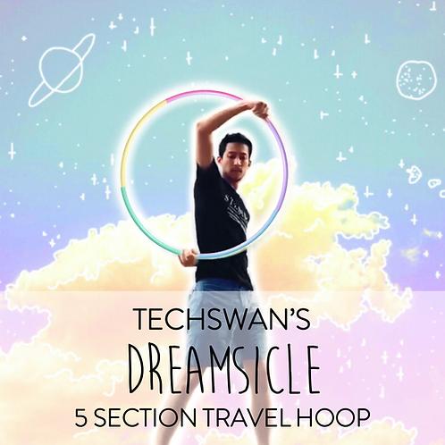 Techswan's Dreamsicle 5 Section Travel Hula Hoop