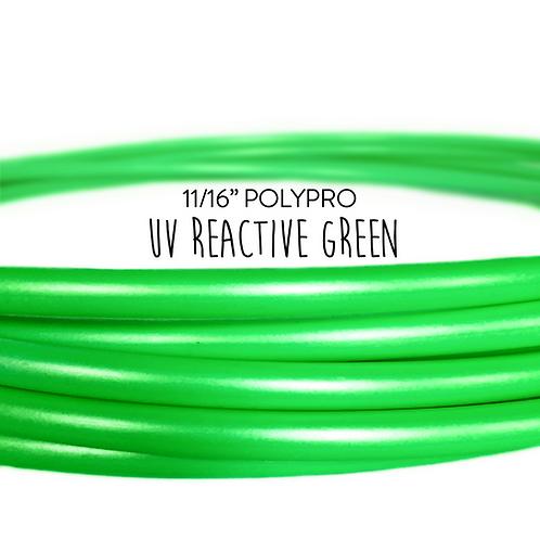 "11/16"" UV Reactive Green Polypro Hula Hoop"