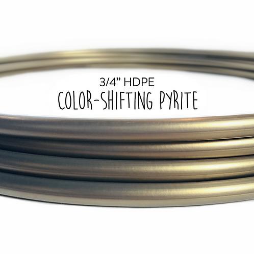 """3/4"""" Color-shifting Pyrite HDPE Hula Hoop"""