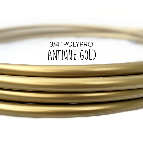 "3/4"" Antique Gold Polypro Hula Hoop"