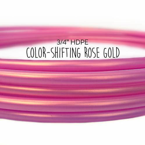 """3/4"""" Color-shifting Rose Gold HDPE Hula Hoop"""