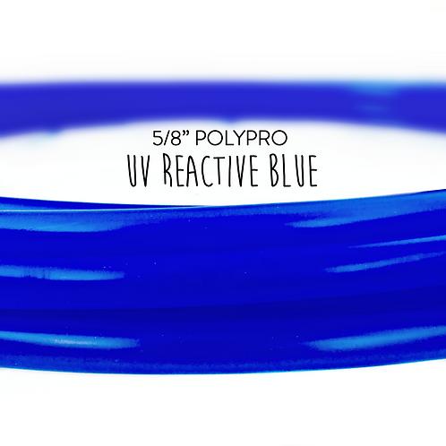 "5/8"" UV Reactive Blue Polypro Hula Hoop"