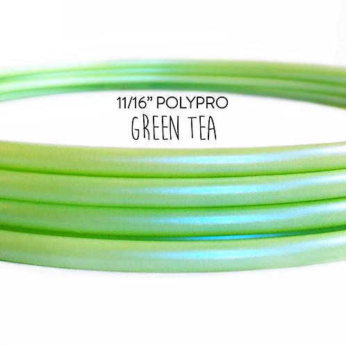 """11/16"""" Green Tea Polypro Hula Hoop"""