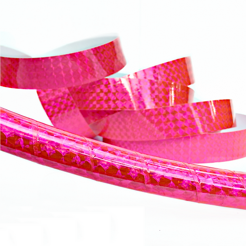 Fluorescent Pink Prism Taped Hula Hoop