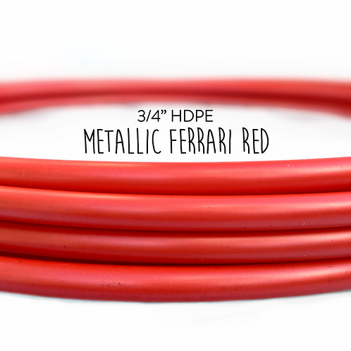 "3/4"" Metallic Ferrari Red HDPE Hula Hoop"