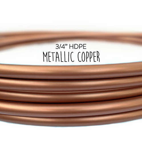 "3/4"" Metallic Copper HDPE Hula Hoop"