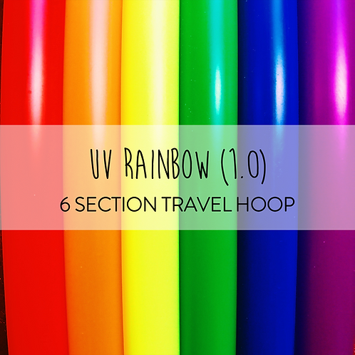 UV Rainbow (1.0) 6 Section Travel Hula Hoop
