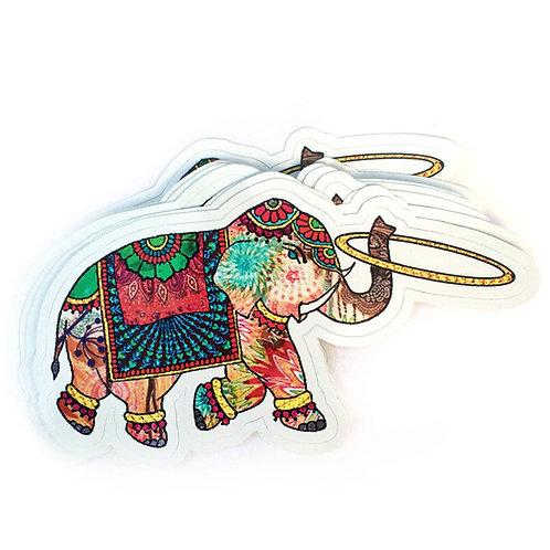 Hooping Elephant Vinyl Decal Sticker