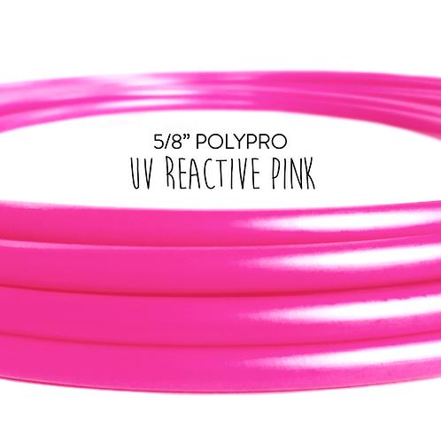 "5/8"" UV Reactive Pink Polypro Hula Hoop"