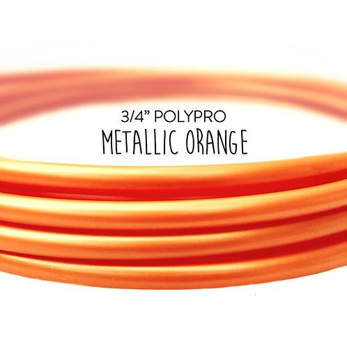 """3/4"""" Metallic Orange Polypro Hula Hoop"""