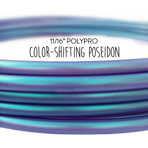 "11/16"" Color-shifting Poseidon Polypro Hula Hoop"