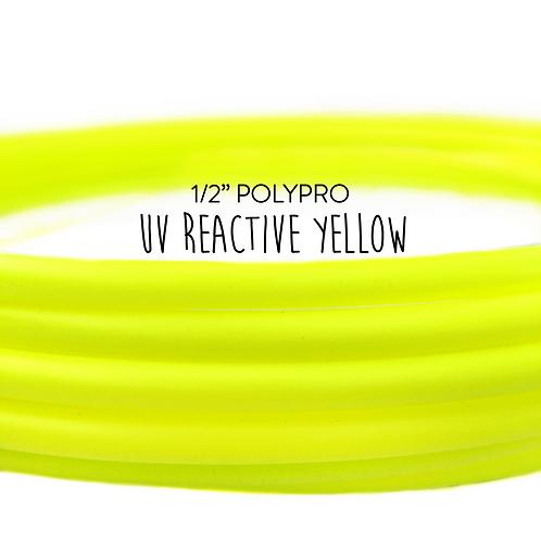 "1/2"" UV Reactive Yellow Polypro Hula Hoop"