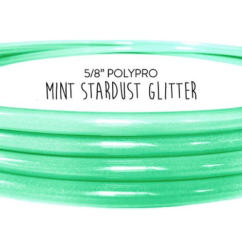 "5/8"" Mint Stardust Glitter Polypro Hula Hoop"